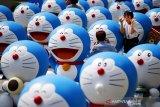 Rayakan hari jadi ke-50 tahun, kereta Doraemon debut di Tokyo