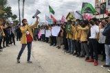Mahasiswa di Inhil demo tolak OmnibusLaw