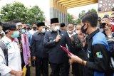 Aksi Damai UU Cipta Kerja, Bupati Muba temui mahasiswa dan buruh