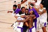 LA Lakers persembahkan gelar juara NBA untuk mendiang Kobe Bryant