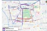 Arus lalu lintas sekitar Monas Jakarta ditutup