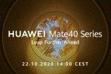 Huawei akan umumkan Mate 40 pekan ini