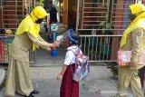 Sejumlah SD di Temanggung simulasi pembelajaran di sekolah saat pandemi