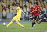 Gol semata wayang Tsigankov bawa Timnas Ukraina menang tipis 1-0 atas Spanyol