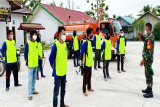 Danramil Teweh Tengah latih relawan karhutla Desa Trahean