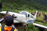 Pesawat Tariku tergelincir di Bayabiru Paniai Papua