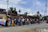 Sejumlah warga Inhu aksi damai tolak demo anarkis