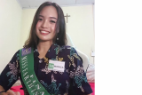 Monica Khonado, finalis Miss Earth Indonesia asal Sulut