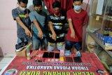 Kuasai dan edarkan sabu, 4 pemuda di Arab Kenangan KSB diringkus polisi