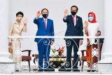 Presiden Jokowi menerima kunjungan PM Jepang