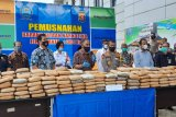 BNNP musnahkan barang bukti ganja 301 Kg