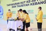Sesepuh Golkar hadiri HUT, Ketua Umum Airlangga: Tunjukkan soliditas partai