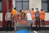 Polda Maluku Utara musnahkan barang bukti narkoba