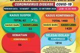 Jumlah kasus COVID-19 di Lampung kembali bertambah 40 jadi 1.460