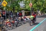 Pencinta olahraga sepeda Palembang minta jalur khusus dijaga  petugas