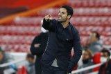 Pelatih Arteta sebut Arsenal banyak buang peluang saat kalah dari Leicester 0-1