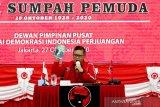 Hasto sampaikan pesan Megawati pada peringatan Sumpah Pemuda 2020