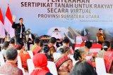 Presiden Joko Widodo serahkan 22.007 sertifikat lahan di Humbang Hasundutan