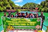 Kodim Yawa-Komunitas kopling tanam terumbu karang di Karopai Teluk Mioka