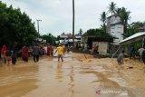 Sungai meluap tujuh desa di Kecamatan Tebing Tinggi tergenang