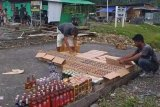 Polres Yalimo tangani kasus 884 botol minuman keras ilegal diamankan Pos TNI