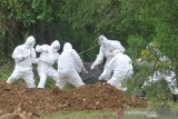 Sembilan jenazah dipindahkan dari pemakaman khusus COVID-19 Bungus Padang