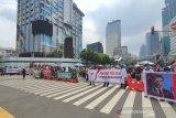 Imbas demo di Kedubes Prancis, polisi tutup Jalan MH Thamrin