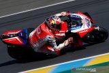 Miller geser Nakagami  di puncak sesi latihan Grand Prix Valencia