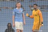 Kevin de Bruyne gagal konversi penalti, City vs Liverpool berakhir imbang 1-1