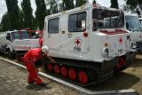PMI menerjunkan kendaraan hagglund di kawasan Gunung Merapi