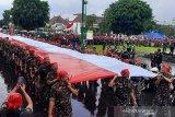 Banser Banyumas bentangkan Bendera Merah Putih 1.000 meter