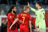 Courtois tegaskan Belgia tak remehkan Denmark