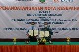 BNI Wilayah Padang MoU dengan UNAND terkait Reposisi KCP UNAND
