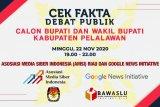 Pertama kali, AMSI Riau gelar cek fakta debat Pilkada Pelalawan