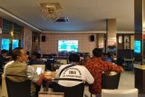 Debat Pilkada Meranti 2020, wartawan nobar melalui live streaming