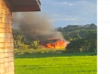 Sebuah rumah di Desa Malapi Putussibau Selatan terbakar