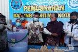 BNNP musnahkan sabu 1,8 kilogram milik jaringan Lapas di Kalteng
