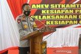 Polda Sulawesi Tenggara evaluasi pengamanan Pilkada Ditengah Pandemi COVID-19