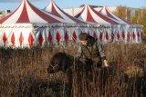 Kelompok sirkus terjebak di tempat parkir Belgia selama pandemi