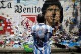 Kenang Maradona, gelar Barca versus Boca Juniors