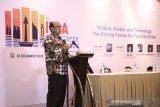 Ketua Pengurus Yayasan Pendidikan dan Pembina Universitas Pancasila Prof Dr Edie Hendratno ketika memberi sambutan dalam acara  International Tourism Studies Association (ITSA) ke-8 di Jakarta.