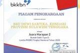 RSU Dewi Sartika Kendari juara harapan II lomba PKBRS nasional