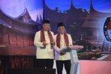 Di Debat Pilgub Sumbar Nasrul Abit-Indra Catri ucapkan terima kasih kepada Ketum DPP Gerindra