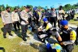 399 personel Polda Kalteng BKO pengamanan pilkada diberangkatkan ke daerah