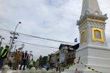Penataan simpang Tugu Yogyakarta memasuki proses akhir