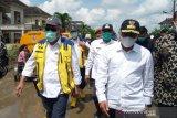 Menteri PUPR Basuki tinjau lokasi banjir di Deli Serdang
