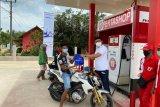 Pertashop Pertamina berbagi promo kepada konsumen Lampung