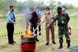 AP II musnahkan barang berbahaya di Bandara Tjilik Riwut