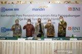 Penandatanganan Akta Penggabungan Tiga Bank Syariah Milik Himbara