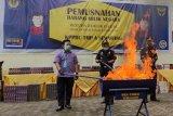 Bea Cukai Semarang memusnahkan ratusan ribu rokok ilegal